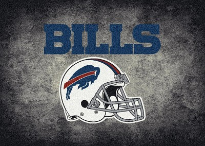 Milliken NFL Distressed Helmet 4010 Buffalo Bills Area Rug