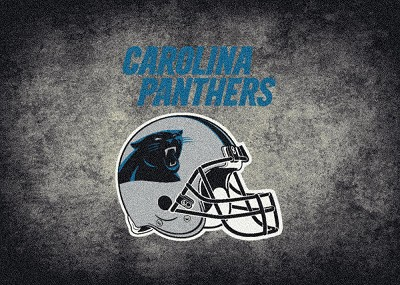 Milliken NFL Distressed Helmet 4013 Carolina Panthers Area Rug