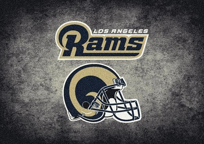 Milliken NFL Distressed Helmet 4049 Los Angeles Rams Area Rug