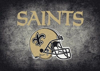 Milliken NFL Distressed Helmet 4061 New Orleans Saints Area Rug