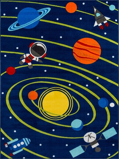 "Momeni Mini Mo PLA-3 Out of This World Navy 4'11"" X 7'0"" Area Rug"