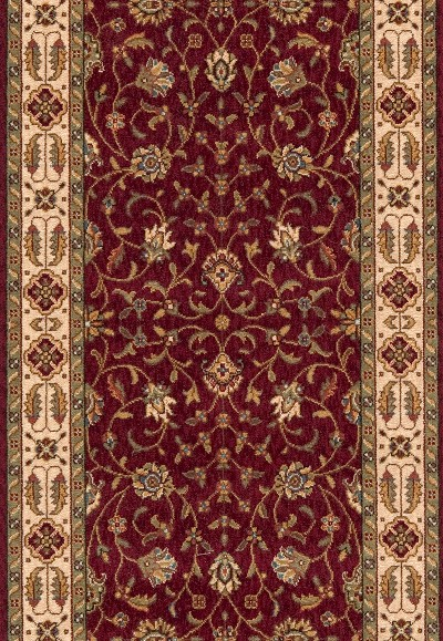 "Momeni Persian Garden PG-08 Burgundy 2'6"" (30"") Wide  Stair and Hallway Runner"