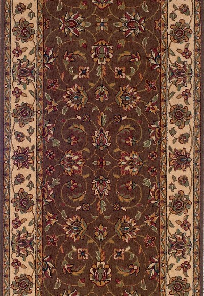 "Momeni Persian Garden PG-18 Cocoa 2'6"" (30"") Wide  Stair and Hallway Runner"