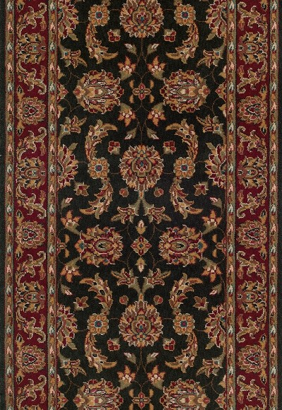 "Momeni Persian Garden PG-19 Charcoal 2'6"" (30"") Wide Stair and Hallway Runner"