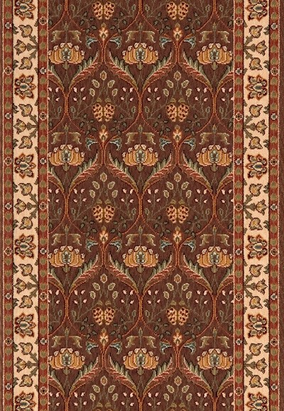 "Momeni Persian Garden PG-12 Cocoa 2'6"" (30"") Wide Stair and Hallway Runner"