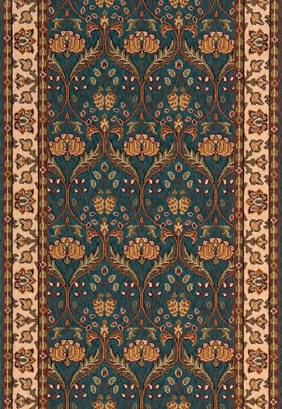 Persian Garden Pg 12 Teal Blue Stair And Hallway Runner By Momeni