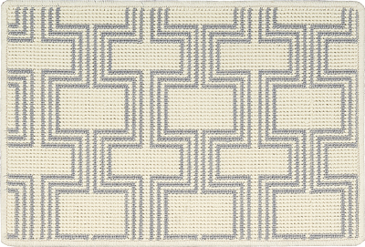 Nourison 50 to Infinity - Grosse Pointe Chandler Ivory/Platinum-B Custom Area Rug