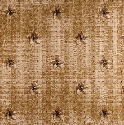 Nourison 50 to Infinity - Luxe Point Flower Pindot LP02 Cmlbk-B Custom Area Rug