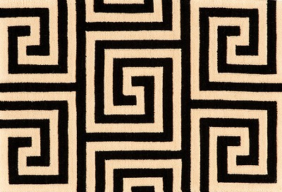 Nourison 50 to Infinity - Mediterranean Labyrinth Labyr Nyx-B Area Rug