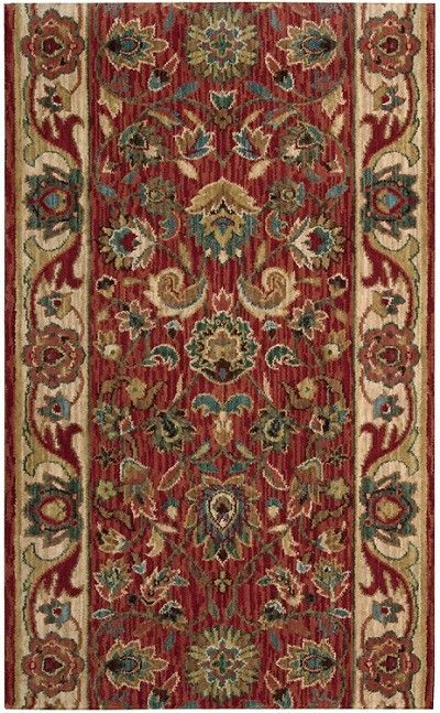 "Nourison Grand Parterre Kashan Elite PT01 Cayenne 2'6"" (30"") wide Hall and Stair Runner"