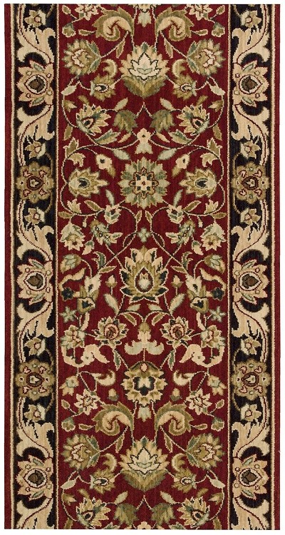 "Nourison Grand Parterre Kashan Elite PT01 Red  3'5"" (41"") wide Hall and Stair Runner"