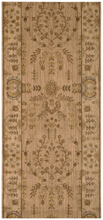 "Nourison Grand Parterre Lilihan Sarouk PT02 Brush  3'5"" (41"") wide Hall and Stair Runner"
