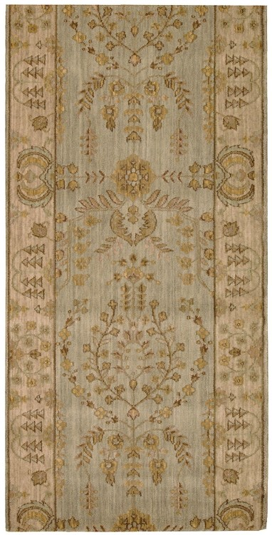 "Nourison Grand Parterre Lilihan Sarouk PT02 Quarry 2'6"" (30"") wide Hall and Stair Runner"