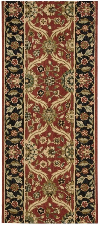 "Nourison Grand Parterre Moghul Elegant PT03 Rust 2'6"" (30"") wide Hall and Stair Runner"