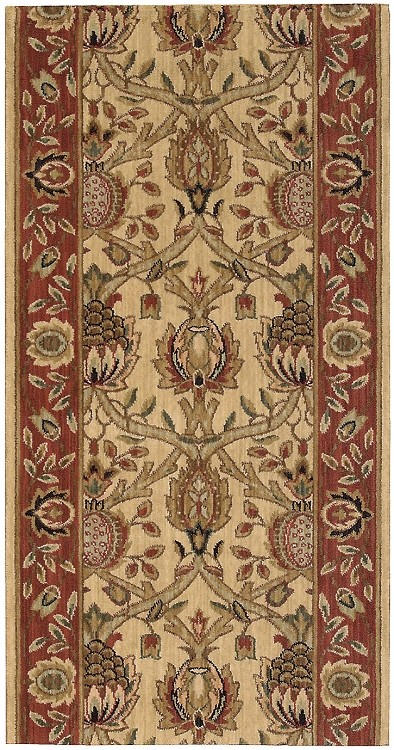 "Nourison Grand Parterre Grand Moghul PT04 Beige 2'6"" (30"") wide Hall and Stair Runner"