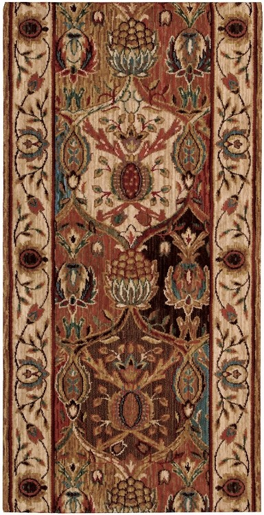 "Nourison Grand Parterre Grand Moghul PT04 Panel 2'6"" (30"") wide Hall and Stair Runner"