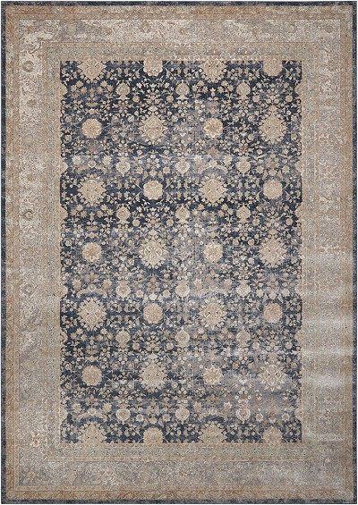 Kathy Ireland For Nourison Ki25 Malta Mai07 Navy Area Rug