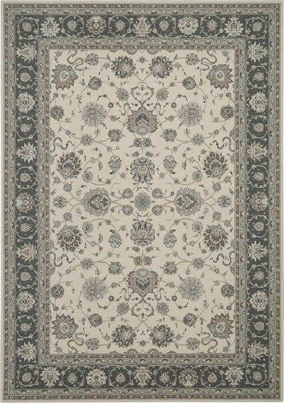 "Nubrisa Couture Limoges LIM10 Ivory/Gray 8'3"" X 11'6"" Area Rug"