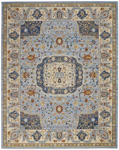 Nourison Majestic Mst03 Light Blue Area Rug Carpetmart Com