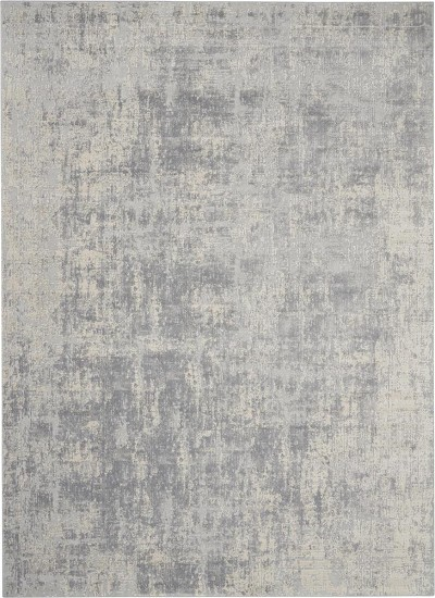 Nourison Rustic Textures Rus01 Ivory Silver Area Rug