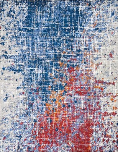 Nourison Twilight TWI25 Red/Blue Area Rug