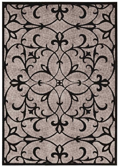 Nourison Graphic Illusions GIL05 Black Area Rug