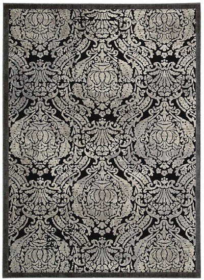 Nourison Graphic Illusions GIL09 Black Area Rug