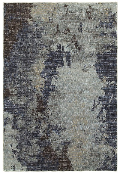 Oriental Weavers Evolution 8049B Navy/ Blue Area Rug