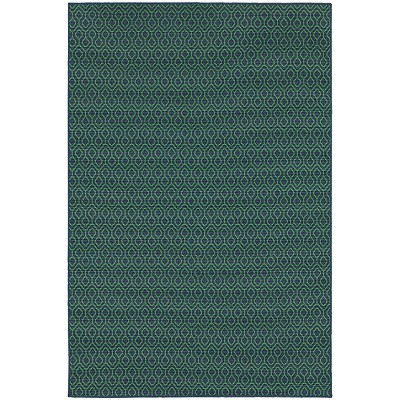 Oriental Weavers Meridian 1634Q Navy/ Green Indoor Outdoor Area Rug