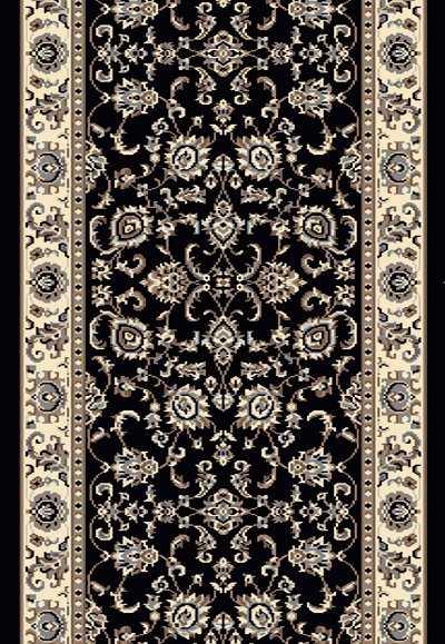 "Radici Alba 1426 Black 2'2"" (26"") Wide Hall and Stair Runner"