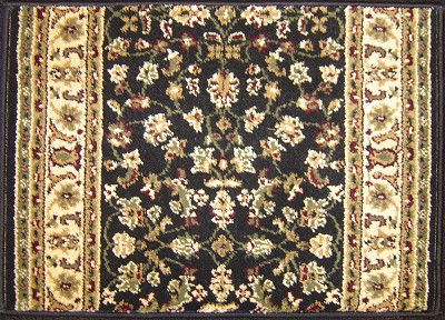 "Radici Castello 953 Black 2'2"" (26"") Wide Hall and Stair Runner"