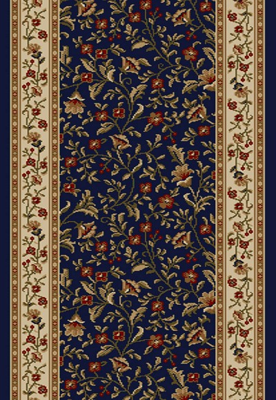 "Radici Como 1593 Navy 2'2"" (26"") Wide Hall and Stair Runner"