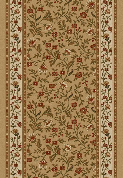"Radici Como 1593 Beige 2'2"" (26"") Wide Hall and Stair Runner"