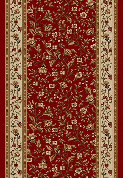 "Radici Como 1593 Red 2'2"" (26"") Wide Hall and Stair Runner"