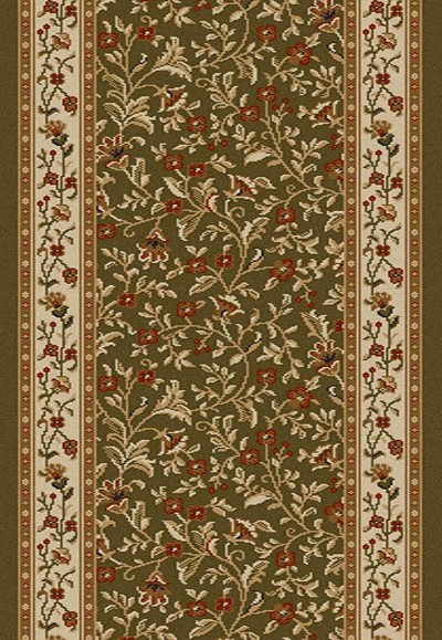 "Radici Como 1593 Sage 2'2"" (26"") Wide Hall and Stair Runner"