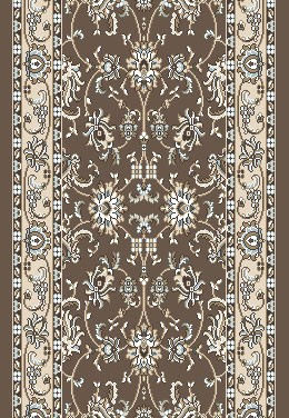 "Radici Pisa 1780 Brown 2'6"" (30"") Wide Hall and Stair Runner"