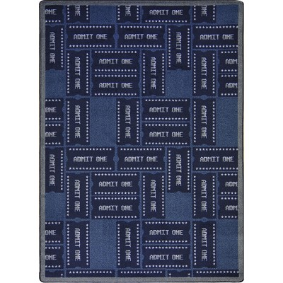 Any Day Matinee Admit One Blue Area Rug by Joy Carpets