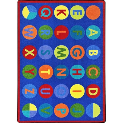 Kid Essentials - Early Childhood Alpha-Dots Multi Area Rug by Joy Carpets