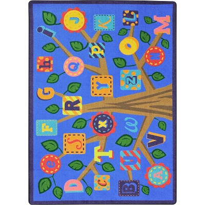 Kid Essentials - Early Childhood Alphabet Leaves Soft Area Rug by Joy Carpets