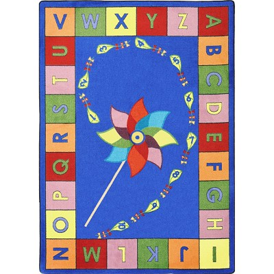 Kid Essentials - Early Childhood Alphabet Pinwheel Multi Area Rug by Joy Carpets