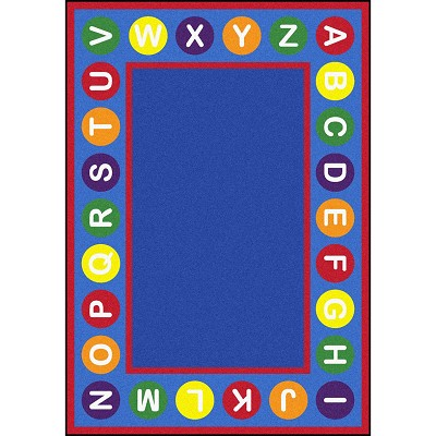 Kid Essentials - Early Childhood Alphabet Spots Multi Area Rug by Joy Carpets