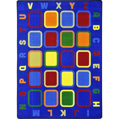 Kid Essentials - Early Childhood Alphabet Tiles Multi Area Rug by Joy Carpets