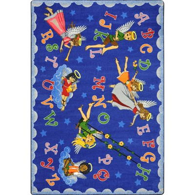 Kid Essentials - Inspirational Angel Alphabet Multi Area Rug by Joy Carpets
