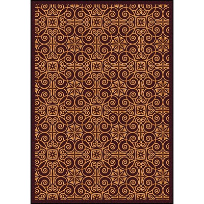 Any Day Matinee Antique Scroll Burgundy Area Rug by Joy Carpets