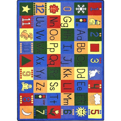 Kid Essentials - Early Childhood Around the Block Multi Area Rug by Joy Carpets