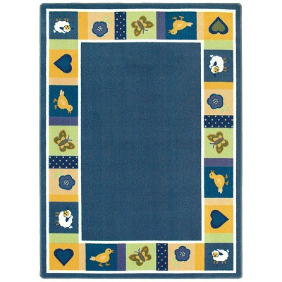 Kid Essentials - Infants & Toddlers Baby Blues Bold Area Rug by Joy Carpets