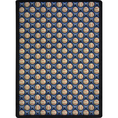 Games People Play Bases Loaded Clear Skies Area Rug by Joy Carpets