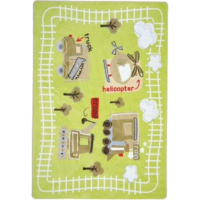 Kid Essentials - Infants & Toddlers Big Machines Multi Area Rug by Joy Carpets