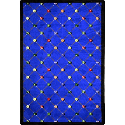 Games People Play Billiards Blue Area Rug by Joy Carpets
