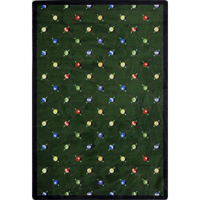 Games People Play Billiards Green Area Rug by Joy Carpets